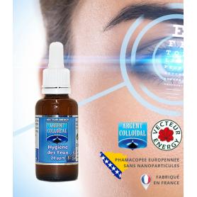 Spray pour l'hygiène des yeux à l'argent colloïdal dosé à 20ppm en 30ml