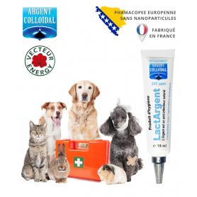 Crème à usage vétérinaire LactArgent dosée à 200 ppm en 15 ml