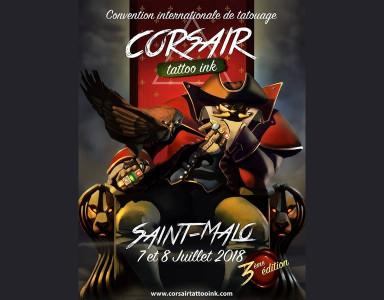 3ème édition de la Corsair Tattoo Ink à St Malo les 7 et 8 juillet 2018